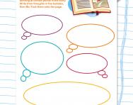 Character thought bubbles worksheet