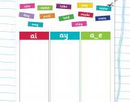 Choose ai, ay or a_e worksheet