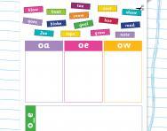 Choose oa, oe or ow worksheet