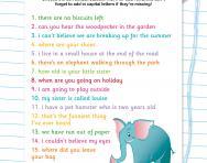 Choose the correct punctuation mark worksheet
