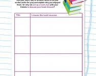 Choosing books to read worksheet