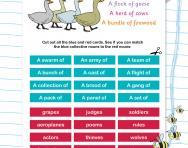 Choosing collective nouns worksheet