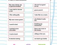 Choosing the right conjunctions worksheet