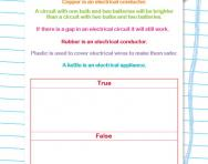 Circuits and conductors true or false worksheet