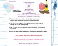 Cleaning water experiment