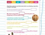 Co-ordinating conjunctions worksheet