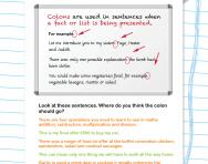 Colons revision worksheet
