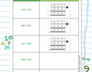 Column addition working out worksheet