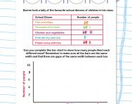 Completing a bar chart worksheet