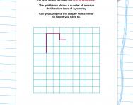Completing a symmetrical shape worksheet