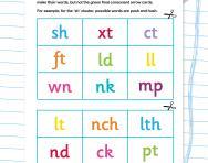 Consonant cluster words race