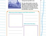 Continuing stories worksheet