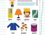 Correcting spelling using phonic knowledge worksheet