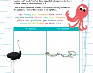 Count the syllables in animal names worksheet