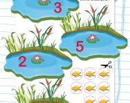 Counting and sticking numbers 1 to 5 worksheet