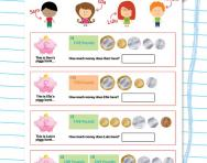 Counting notes and coins worksheet