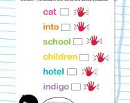 Counting syllables worksheet