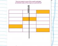 Creating a symmetrical pattern worksheet