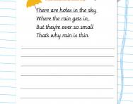 Cursive handwriting: poetic practice worksheet