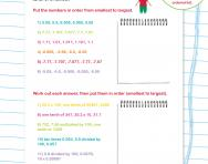 Decimals check-up worksheet