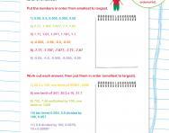 Decimals check-up worksheet