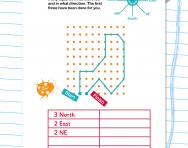 Describing direction worksheet