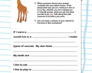 Descriptive writing practice worksheet