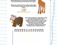Descriptive writing using the senses