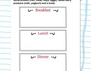 Design a healthy menu worksheet