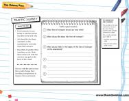 Develop questioning skills - traffic survey activity