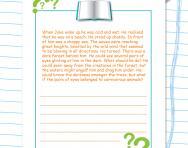 Dilemma story starter worksheet