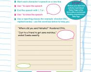 Direct speech rules and punctuation worksheet