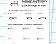 Dividing decimals using grids worksheet