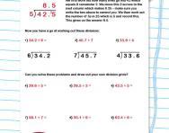 Dividing decimal numbers worksheet
