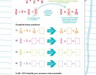 Dividing fractions by a whole number worksheet