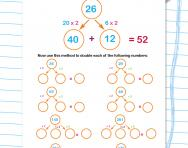 Doubling two-digit and three-digit numbers worksheet