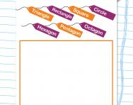 Drawing and labelling a shape picture worksheet