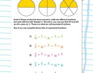 Equivalent fractions explained worksheet