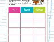 Etymology skills worksheet