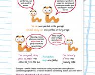 Expanded noun phrases explained worksheet