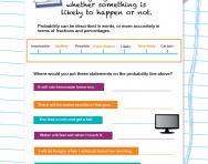 Explaining probability worksheet