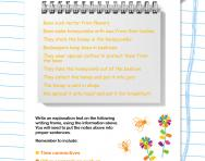 Explanation texts writing frame worksheet
