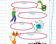 Extending vocabulary: synonyms worksheet
