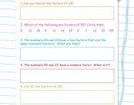 Factors puzzles