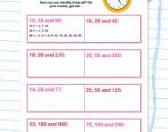 Find the common factors: speed challenge