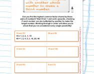 Find the highest common factor worksheet
