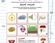 Find the rhyme using 'ou' worksheet