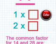 Finding common factors tutorial