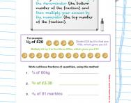 Finding fractions of quantities