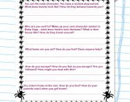 Folklore tale planning frame worksheet
